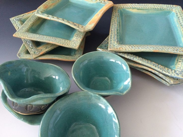 A set of dishes from our first pottery classes. They look great! Chris Thomas & 7 best ancient jasper images on Pinterest | Jasper Pottery ideas ...