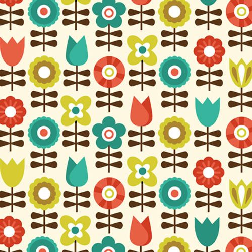 Scandinavian flower pattern