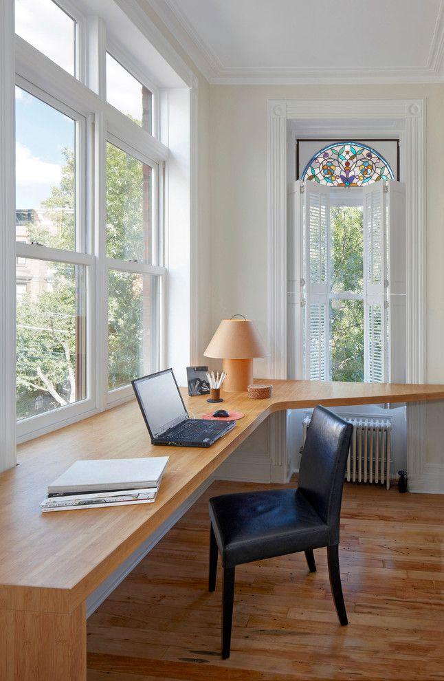 Bambus Tischplatte Schwarz Leathered Stuhl Tisch Lampe Glas Fenster