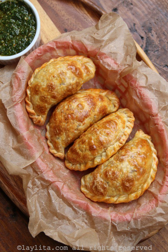 Empanadas filled with beef picadillo