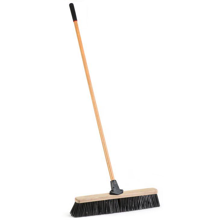 "Jensen Laitner Brush Company 1435A 24"" Rough Surface Push Broom"