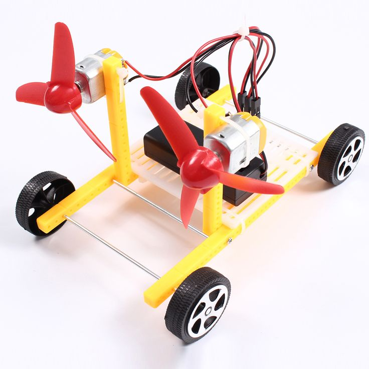 Wind Power Car Educational DIY Car Hobby Robot Puzzle IQ Gadget DIY Kits Electronic Production For Toy