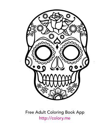 19 best Sugar Skull-Adult coloring pages images on Pinterest ...