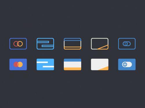 Плоские иконки кредитных карточек