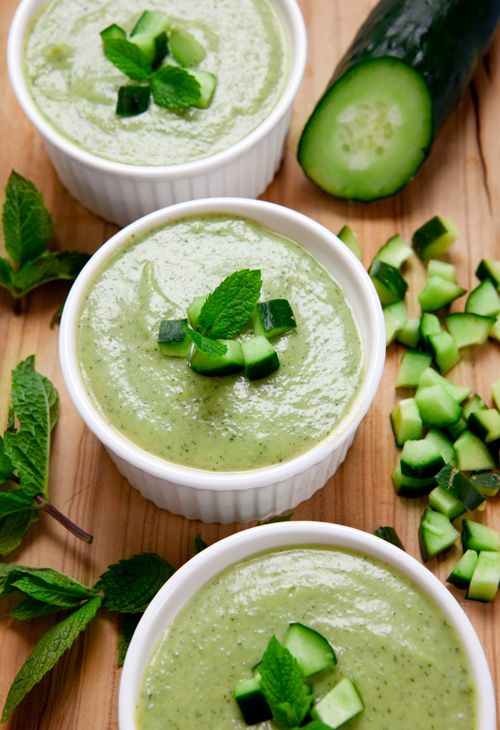 Cold Avocado, Cucumber and Mint Soup ** Zuppa fredda di avocado ...