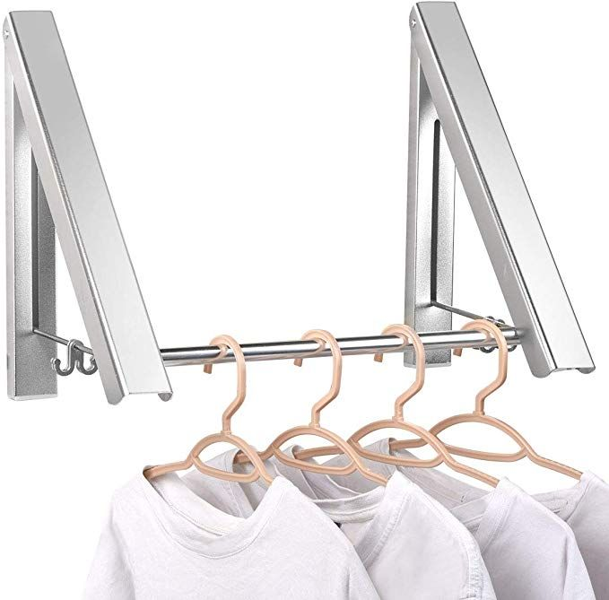 Amazonsmile Laundry Clothes Hanger Aluminium Foldable Retractable Clothes Wall Mounted Clothes Drying Rack Clothes Drying Racks Indoor Clothes Drying Rack