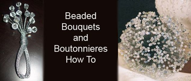 DIY Wedding Challenge: How to make a beaded bouquet and boutonnière - Project Wedding