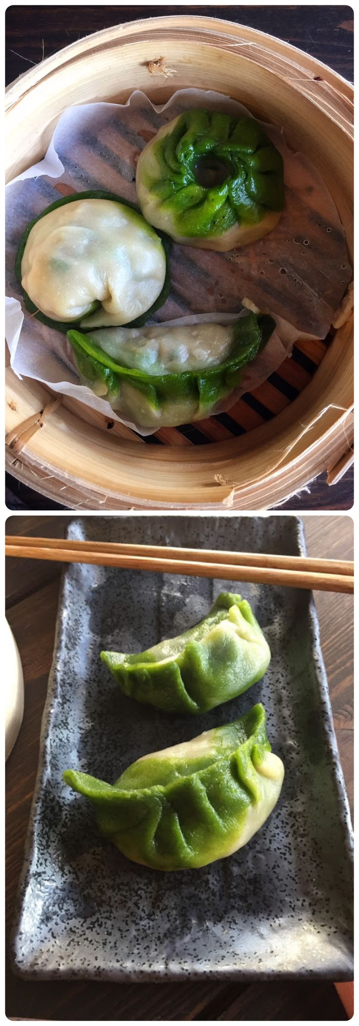 Green & White Dumplings - Chard Dumplings