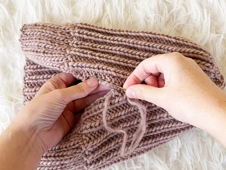 How To Knit A Hat With Straight Needles in 2020 | Beanie ...