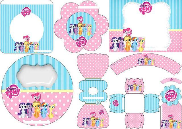 My Little Pony: Mini Kit para Imprimir Gratis.