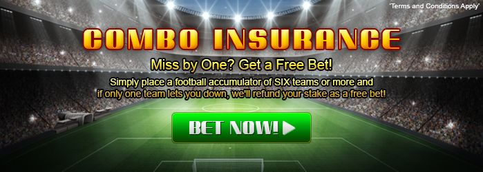 Miss by One? Get a Free Bet! Simply place a football accumulator of SIX teams or more and if only one team lets you down, we'll refund your stake as a free bet! #sportsbook #sports #betting #online #football #138.com