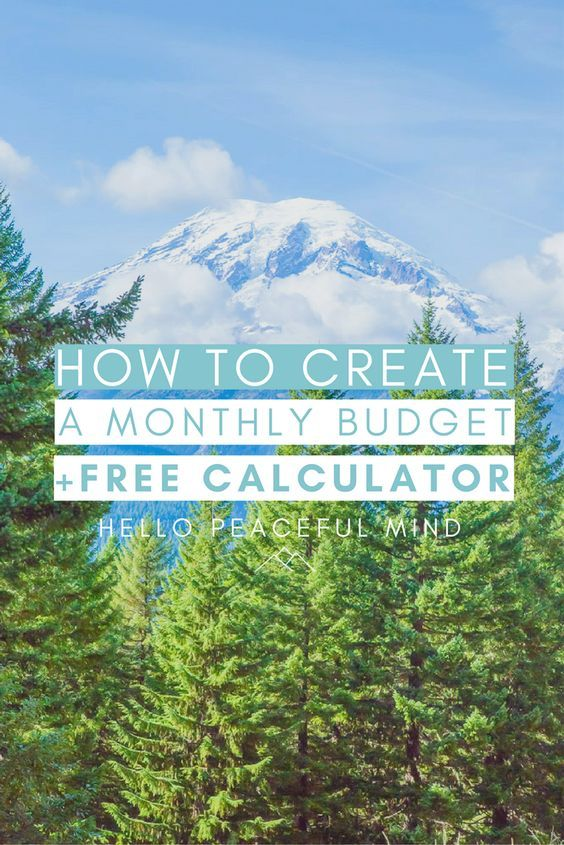 Discover how to easily create a monthly budget and automatically calculate how much you can save with the FREE monthly budget calculator. Go to www.HelloPeacefulMind.com to download it!