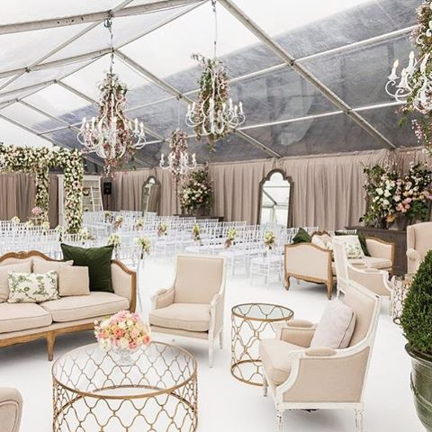 Great Pretty Gorgeous Wedding Ceremony Setup #clear_tent