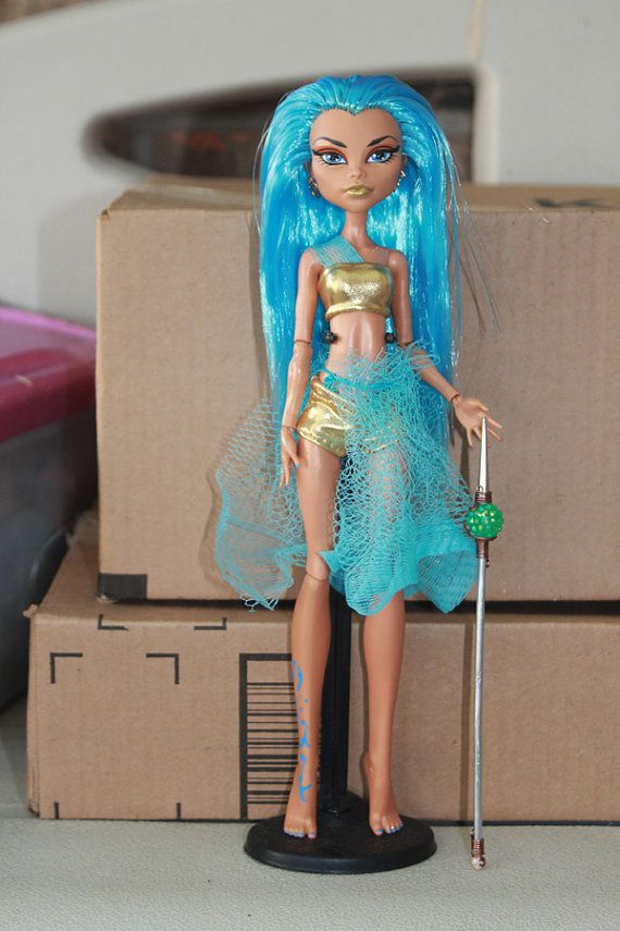 Monster High custom ooak doll Water Warrior by mythicalmommy1717