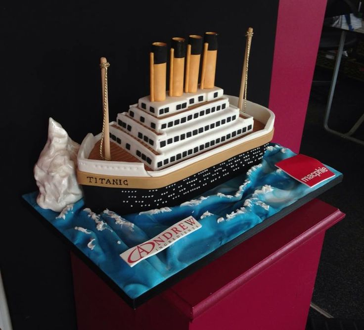 Best Ship And Fishing Boat Cakes  Images On Pinterest - Fishing boat birthday cake