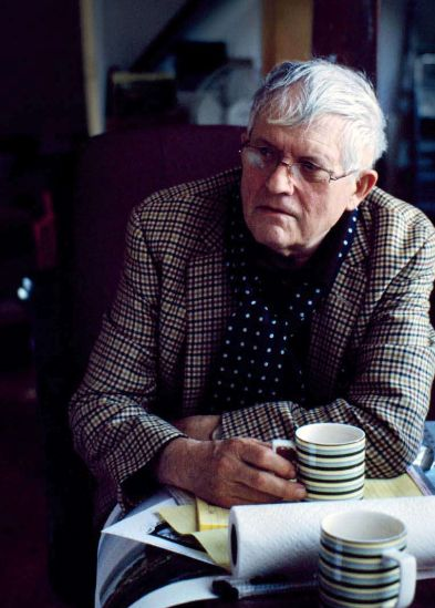 David Hockney, OM CH RA is an English painter, draughtsman, printmaker, stage designer and photographer. He lives in Bridlington, East Riding of Yorkshire, and Kensington, London. Wikipedia