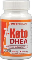 7-Keto DHEA is a naturally occurring metabolite of DHEA. It is unable to metabolize into sex hormones; therefore, it can provide many of the same benefits of DHEA without its associated side effects. In the body, 7-Keto DHEA is responsible for activating enzymes responsible for fatty acid and carbohydrate metabolism. The bodys production of 7-Keto DHEA declines with age, which is directly correlated with a decline on metabolic rate. Clinical studies of 7-Keto DHEA