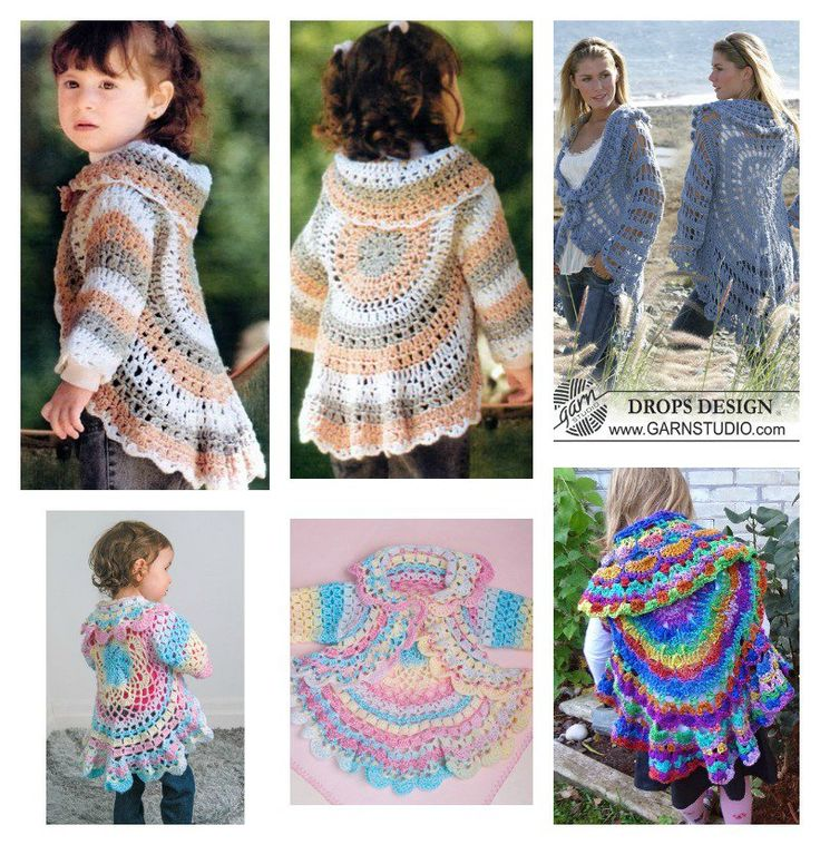 Crochet jackets are not only warm and cozy, but also pretty. If you are a fan of crochet, why not crochet a circle jacket? This style will suit most body shapes. We collect some of crochet patterns for you, now choose your favorite color yarn and hooks to start working on them. Happy crochet! Pinterest