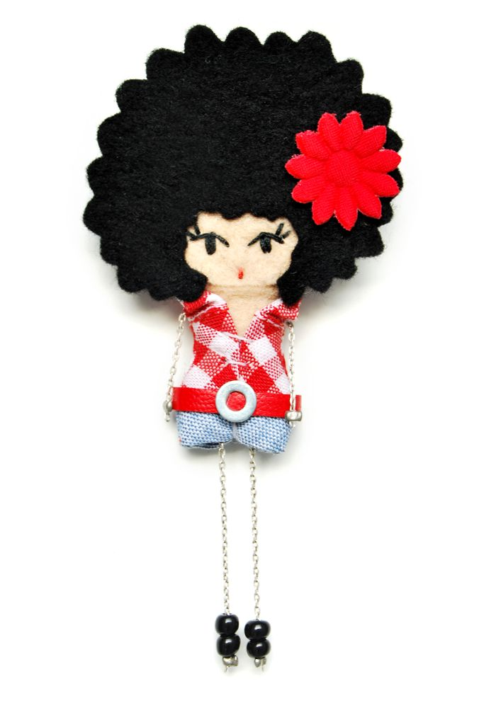 I like her hair /felt doll