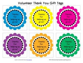 ... Ideas, Parent Volunteers, Gift Tags, Volunteer Ideas, Classroom