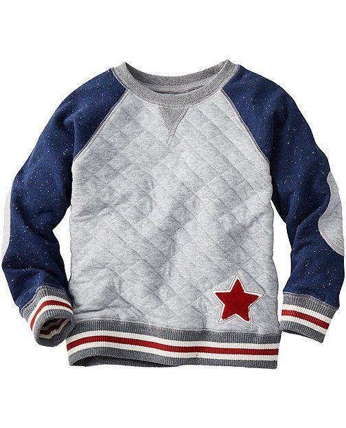 Quilted Sweatshirt from #HannaAndersson.