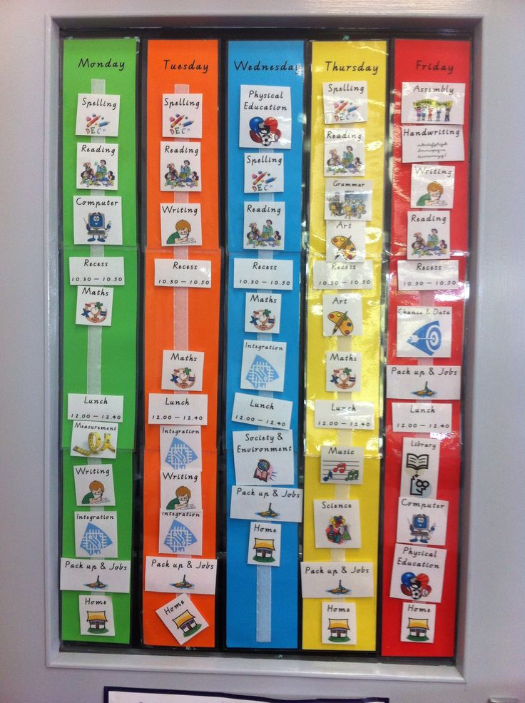 Visual timetable...essential for every classroom I think!
