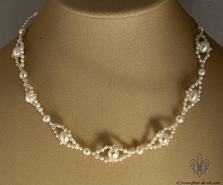 White rhombs necklace N1270 by Fleur-de-Irk.deviantart.com