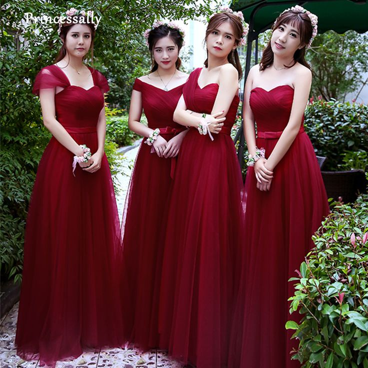 Robe rouge tРіВ©moin mariage