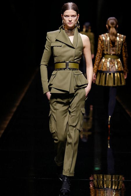 Big for fall- deconstructed military looks....  Balmain | Fall 2014 Ready-to-Wear Collection | Style.com
