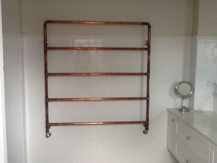 Bathroom Floor Radiators : Main bathroom towel rain made by steve from copper and