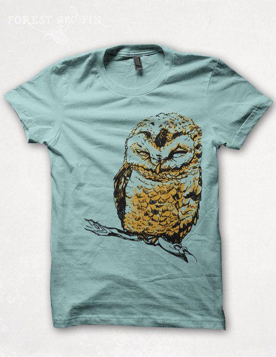 Hey, I found this really awesome Etsy listing at https://www.etsy.com/listing/151477328/womens-tshirt-owl-shirt-screenprint