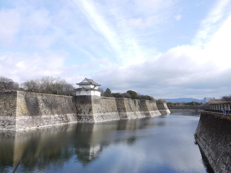 Osaka castle, Rokuban Turret and South Outer Moat