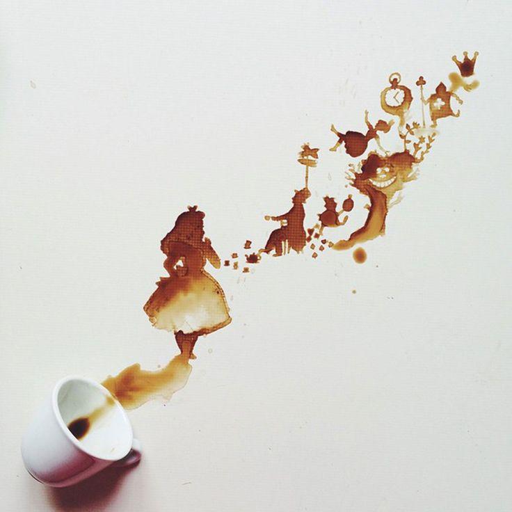 ♠ Peinture au café by Giulia Bernardelli ♠