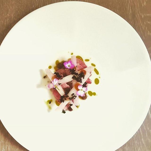 Duck (corned) + Pickled Muntries + Comte + Kohlrabi