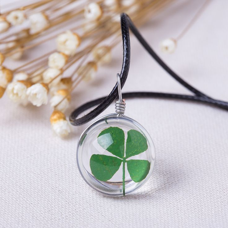 2016 Hot Fashion Crystal glass Ball Clover Necklace Long Strip Leather Chain Pendant Necklaces Women Lucky Wish Locket Jewelry♦️ SMS - F A S H I O N  http://www.sms.hr/products/2016-hot-fashion-crystal-glass-ball-clover-necklace-long-strip-leather-chain-pendant-necklaces-women-lucky-wish-locket-jewelry/ US $0.68