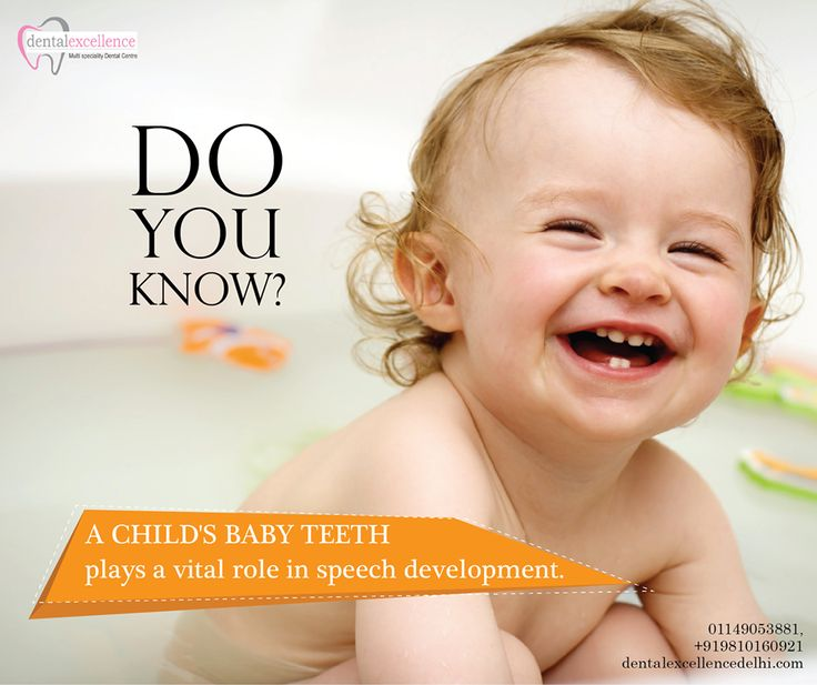 Do you know? A child's Baby teeth plays a vital role in speech development.