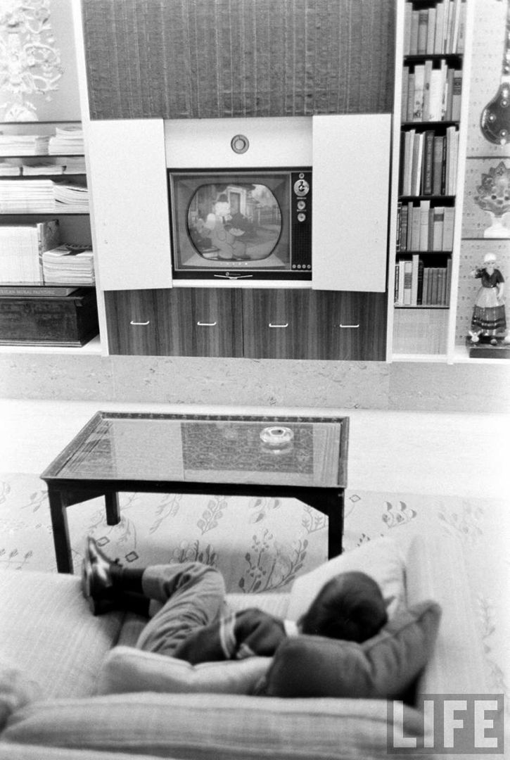 Miller House, Columbus, Indiana,1957. Everyday Items Like The TV Are Hidden