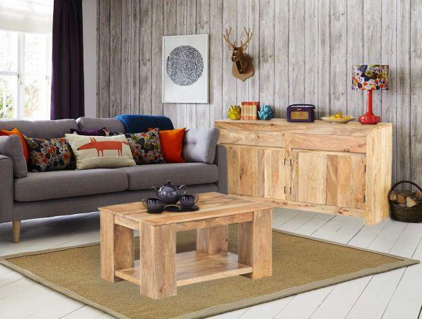 Jasne drewno Mango bardzo teraz lubiane we wnętrzach, gdyż jasny kolor nie zabiera przestrzeni w której mieszamy. Polecamy :)