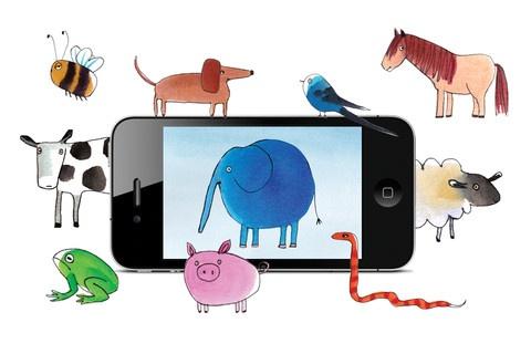 Illustrator Pia Olsen har tegnet de små dyr til app'en Moobaa som er en inteaktiv pegebog. Hver dyr har sin helt særlige, spøjse personlighed.    Klik og læs en gennemgang af app'en på bloggen borneboger.nu.