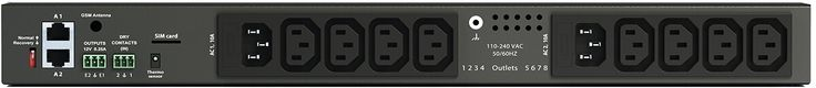 Didactum PDU mit 8 Ports - Steuerung angeschlossener Geräte im IT-Rack  #Serverrack #IT #Serverraum #PDU #Monitoring