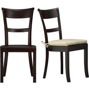 Basque Java Side Chair and Cushion in Dining Chairs | Crate and Barrel