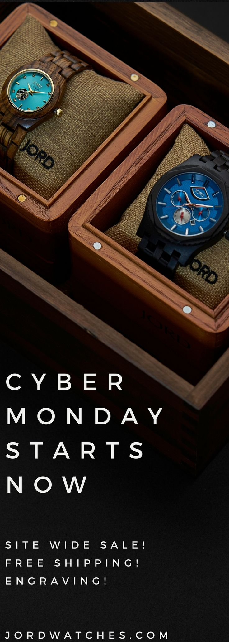 use code: CYBERSALE17 at checkout for 15% off all watches and engraving services!