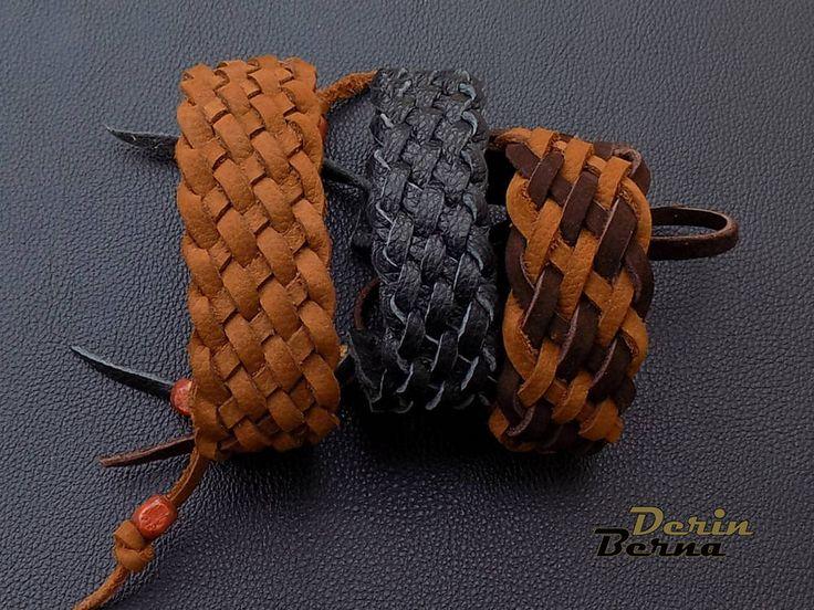 Men Leather Braided Bracelet,Brown leather men bracelete,men jewelry,men bracelet,men accesory,black leather bracelet,black men leather cuff by BernaDerin on Etsy