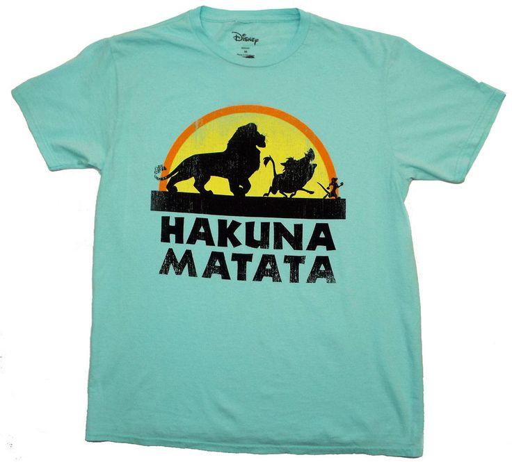 THE LION KING  HAKUNA MATATA T-SHIRT -DISNEY - SIMBA TIMON PUMBAA- NEW! #TheLionKing #GraphicTee