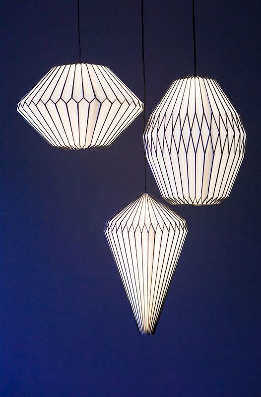 TOP PICK by Lisa Ferguson www.lisafergusoninteriordesign.com >> Gold Leaf Design Group Origami Paper Lamps #HPmkt