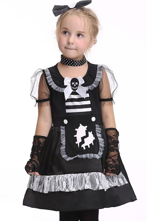 Chlld Witch Shoe Covers Faux Leather Buckle Halloween Girls Fancy Dress Costume