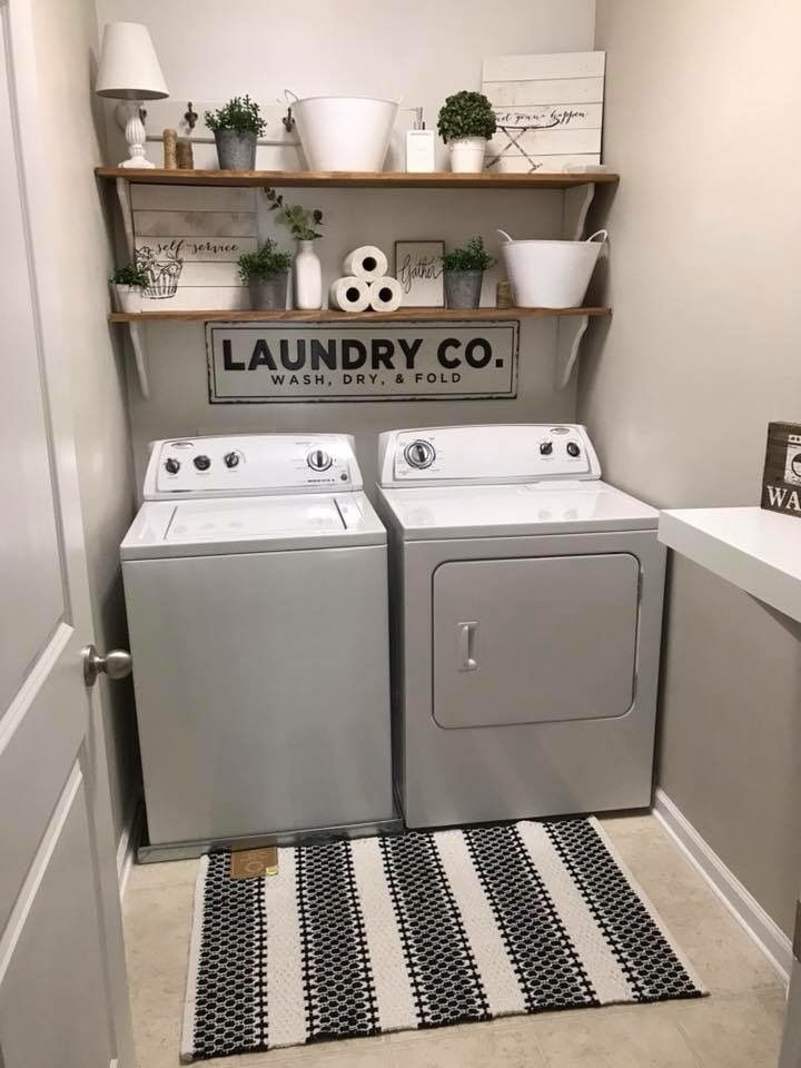 A Clean Paint Color For The Laundry Room Laundry Closet