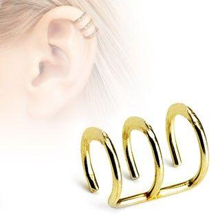 3 dobbelt ørespiral - Kan bruges uden du har en piercing.