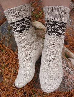 Pehtoori sock pattern was exclusive to the Finnish Ravelry group Kahelit Konkkaa and its fun knitting race until the end of February 2015. Now it's available for everyone in Finnish and English.