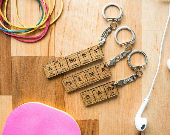The 30 best keychains images on pinterest periodic table name keychain gifts for him gifts for her urtaz Gallery